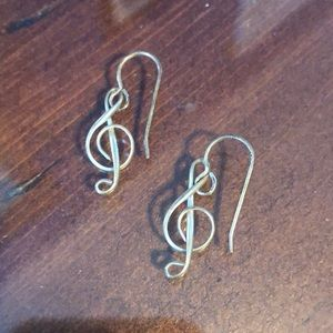 Silver music not earring